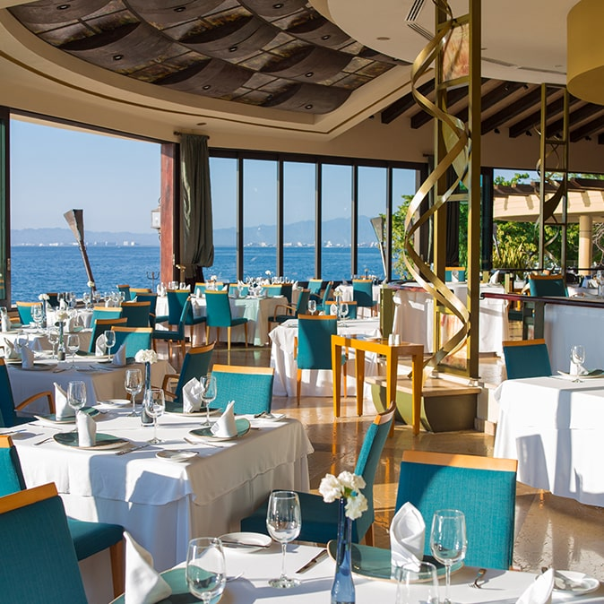 Blanca Blue Restaurant Garza Puerto Vallarta