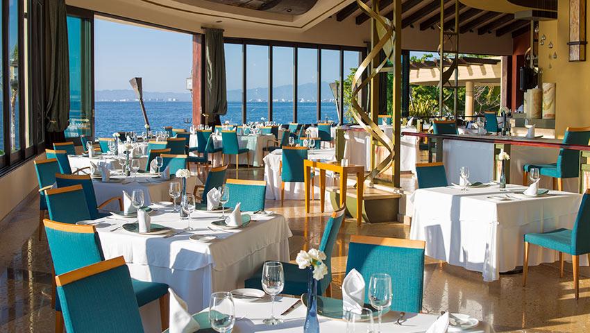 Blanca Blue Dining In Puerto Vallarta