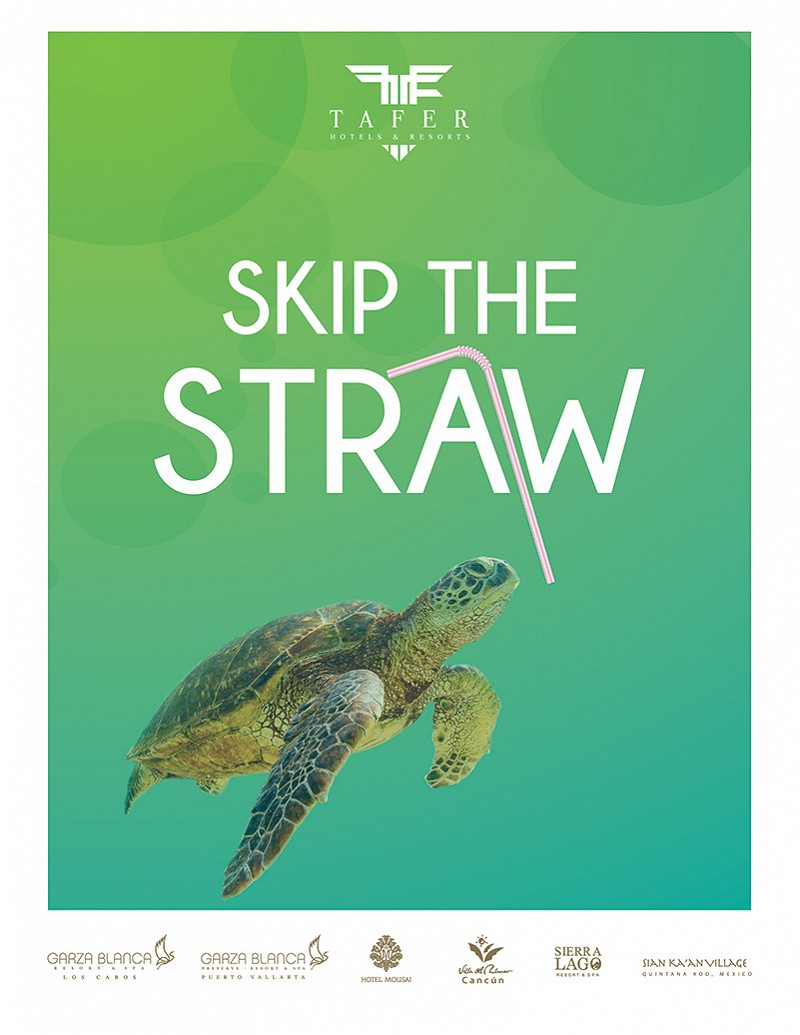 Tafer hotels to discontinue single use plastic straws