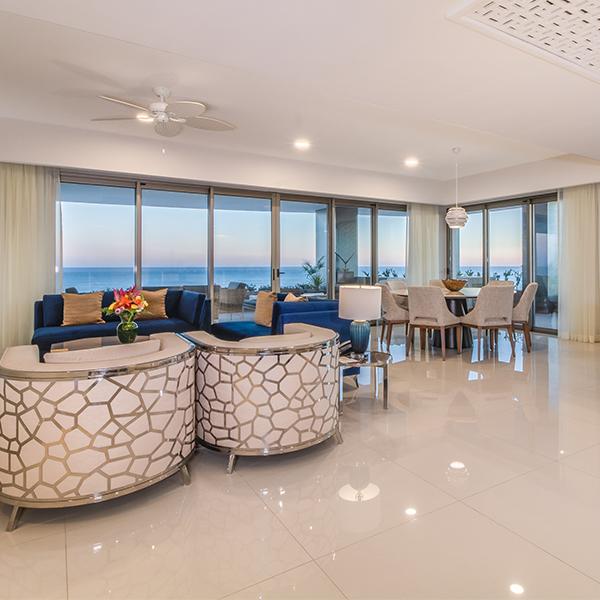 Three Bedroom Ocean Front at Garza Blanca Los Cabos