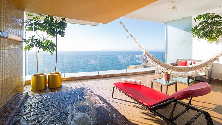 Private Terrace Mousai Suite Puerto Vallarta